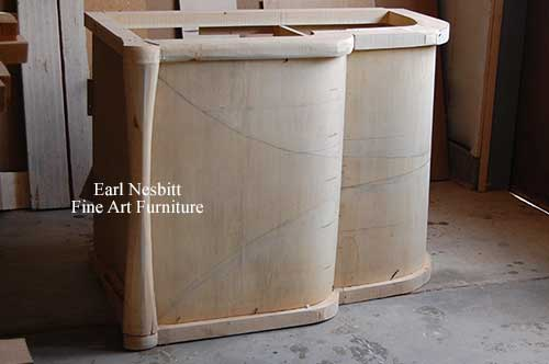 Earl builds full size mock up of custom made art deco cabinet